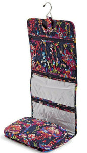 Vera Bradley Hanging Organizer in Midnight Wildflowers Travel Cosmetic Bag - $65