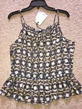 Load image into Gallery viewer, Ro & De Optical Medallion Ruffle Spaghetti Strap Cami Blouse - Small - $58 - NWT