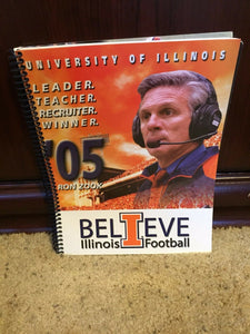 2005 ILLINOIS FIGHTING ILLINI COLLEGE FOOTBALL  MEDIA GUIDE BOX9