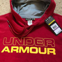 Load image into Gallery viewer, Under Armour Undisputed Cotton Hoodie AllSeason Gear 1248346 Mens Red Yellow $50