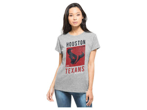 HOUSTON TEXANS '47 NFL Women's Hero Tee T-Shirt GRAY - Sz LARGE