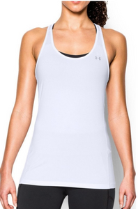 Under Armour UA Team HeatGear Womens Racer Tank Top 1271765 White Size XL - $25