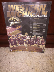 2002 WESTERN MICHIGAN UNIVERSITY  COLLEGE FOOTBALL MEDIA GUIDE - b6