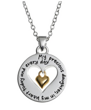 "Load image into Gallery viewer, Sentimental Expressions LArocks Silver My Precious Daughter 18"" Necklace $60"
