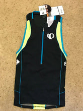 Load image into Gallery viewer, Pearl Izumi Men's Elite In-R-Cool Tri Singlet - Black Yellow - Small S - $80