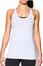 Load image into Gallery viewer, Under Armour UA Team HeatGear Womens Racer Tank Top 1271765 White Medium M - $25