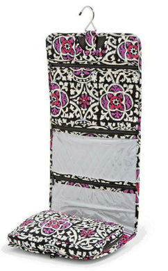 Vera Bradley Hanging Organizer in Scroll Medallion Travel Cosmetic Bag - $65