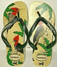 Load image into Gallery viewer, Havaianas IPE Flip Flops Brazil Sandals Women 7/8 Men 6/7 - Pica Bird or Leopard