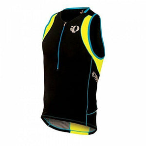 Pearl Izumi Men's Elite In-R-Cool Tri Singlet - Black Yellow - Small S - $80