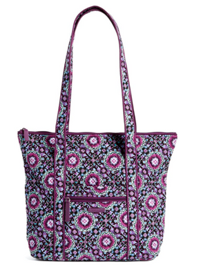 Vera Bradley VILLAGER - Lilac Medallion - Shoulder Bag Purse Handbag Tote - $68