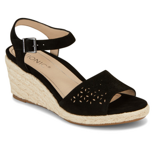 Vionic Orthotic Women TULUM ARIEL Nude Cherry Black Wedge Sandals - Sizes - $150