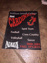 Load image into Gallery viewer, 2000-2001 WILLIAM JEWELL COLLEGE FALL SPORTS FOOTBALL SOCCER+  MEDIA GUIDE b4