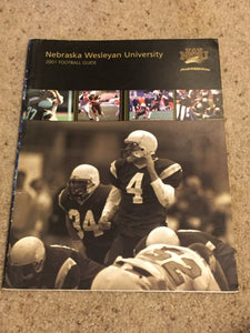 2001 NEBRASKA WESLEYAN UNIVERSITY NWU FOOTBALL MEDIA GUIDE b6