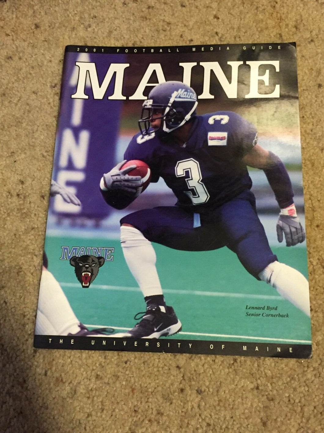 2001 UNIVERSITY OF MAINE  COLLEGE FOOTBALL MEDIA GUIDE - b6