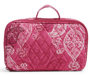 Vera Bradley Blush & Brush Makeup Case - Fabric Stamped Paisley - Pink -  $44
