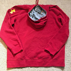 Under Armour Undisputed Cotton Hoodie AllSeason Gear 1248346 Mens Red Yellow $50