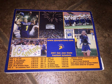 Load image into Gallery viewer, 2001 SAN JOSE STATE COLLEGE FOOTBALL MEDIA GUIDE UP CLOSE AND PERSONAL -b4