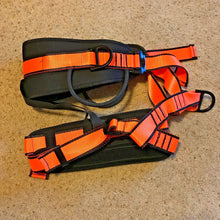 Load image into Gallery viewer, Professional Safety Rock Climbing Rappelling Harness Seat Sitting Belt Orange