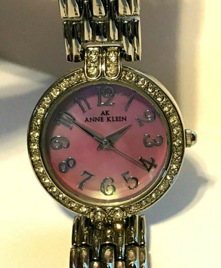 Anne Klein Womens 10/9637 Stainless Steel Pink/Purple Mother of Pearl Dial Watch