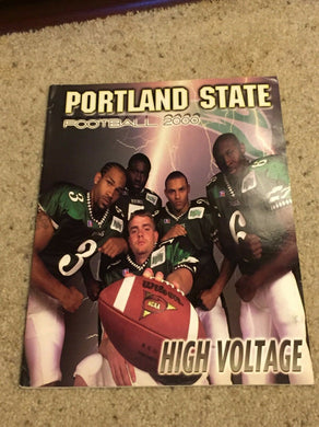 2000 PORTLAND STATE COLLEGE FOOTBALL MEDIA GUIDE b6