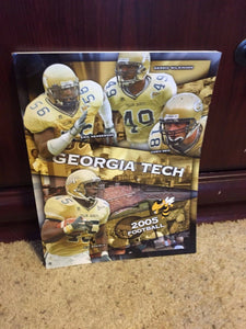 2005 GEORGIA TECH gt COLLEGE FOOTBALL MEDIA GUIDE EX-MINT - BOX9