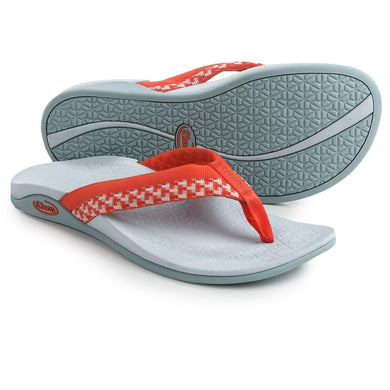 Chaco Women's Aurora Cloud - Block Tango Coral Orange Flip Flops Size 5