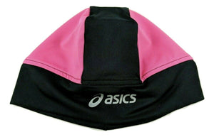 Asics Runners Cap Womens Utility Hat Black & Shocking Pink Beanie One Size