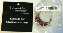 Load image into Gallery viewer, Alex and Ani (+) Energy EDEN Hoop Earrings - Rare - Bark Crimson Fern Lichen $38