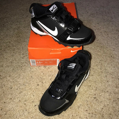 Nike LAND SHARK LEGACY LOW BG Black Youth CLEATS Kids Sizes 396262 NEW - $35