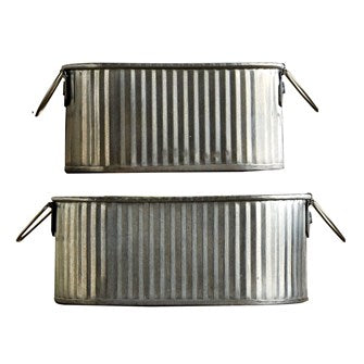 Mini Corrugated Metal Buckets with Handles