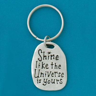 Shine Pewter Keychain