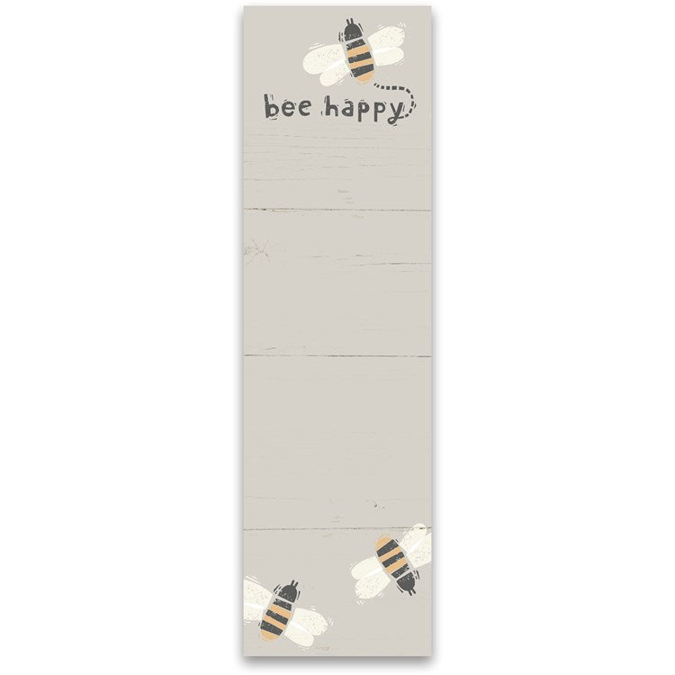 Bee Happy List Pad