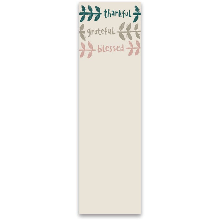 Thankful Grateful Blessed List Pad