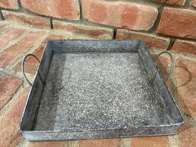 Large Square Galvanized Tray