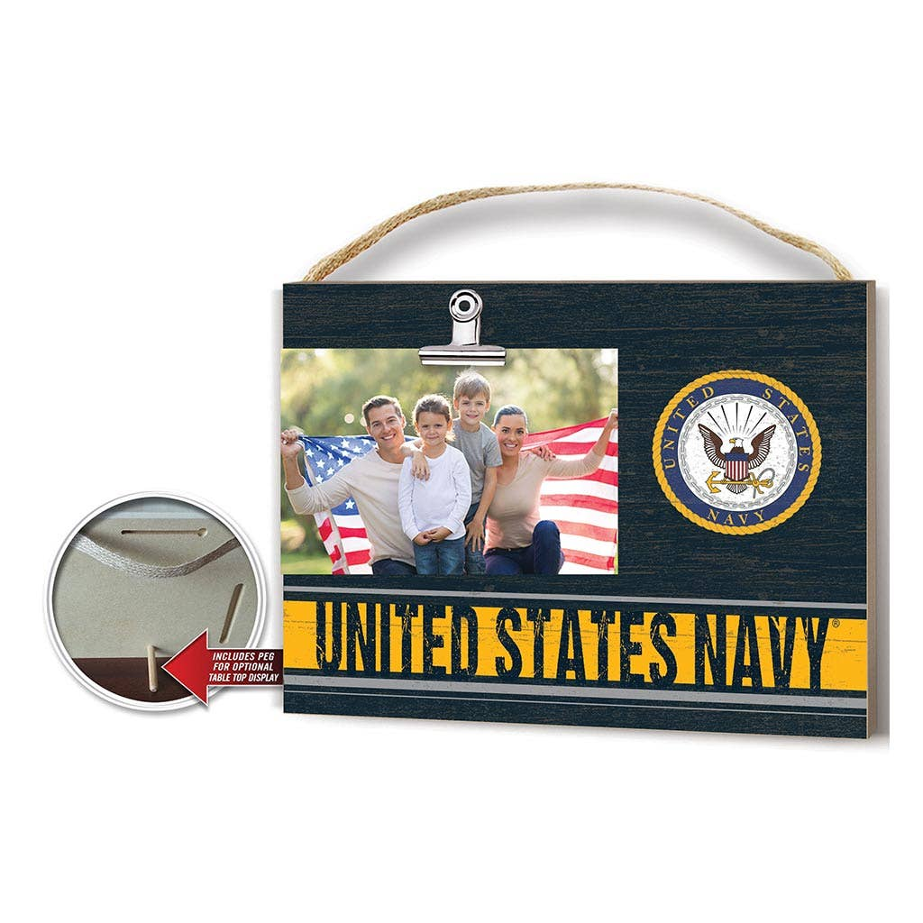 Clip it Navy Photo Frame
