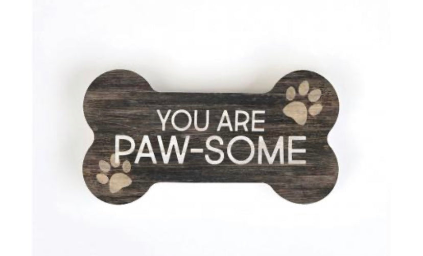 Paw-Some Wood Shaped Dog Bone