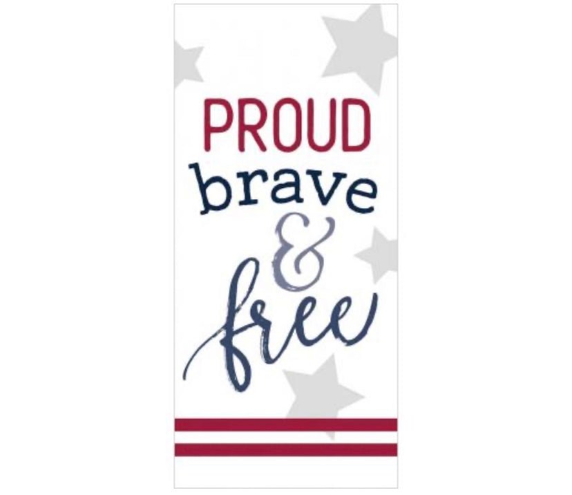 Proud Brave & Free Mini Block