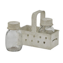 Grater Caddy with Salt and Pepper Set