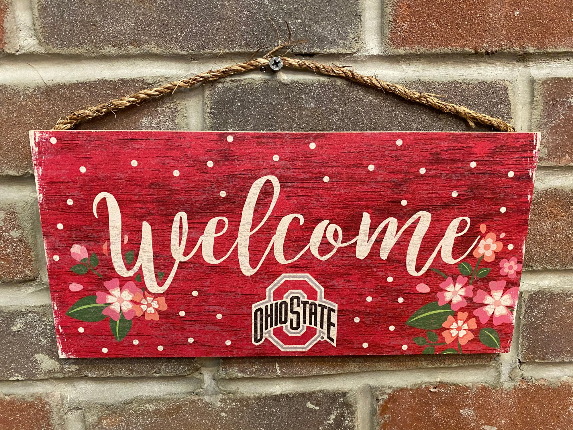 Welcome Ohio State Floral Sign