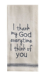 I Thank My God Dishtowel