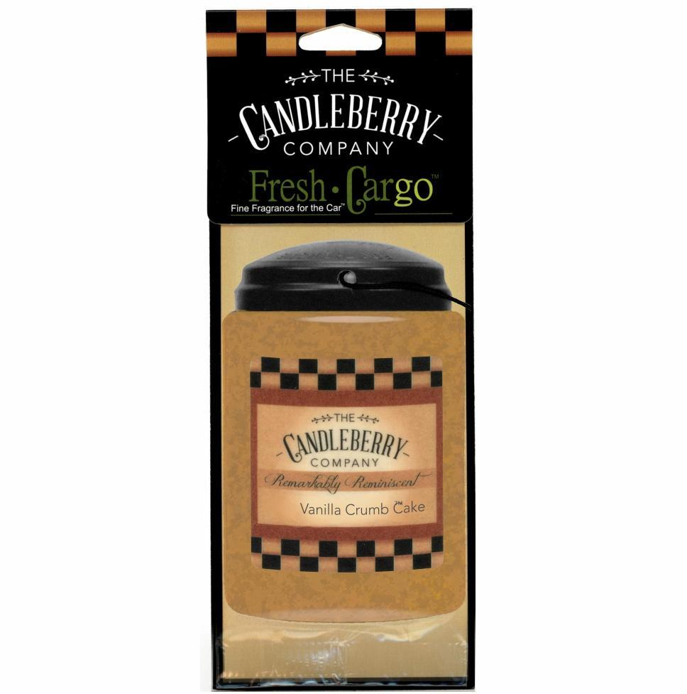 Vanilla Crumb Cake Candleberry Car Air Freshener