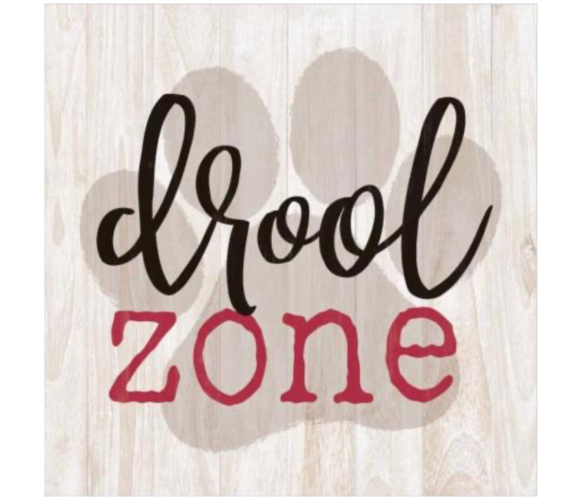 Drool Zone Wood Block
