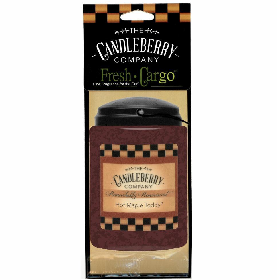 Hot Maple Toddy Candleberry Car Air Freshener