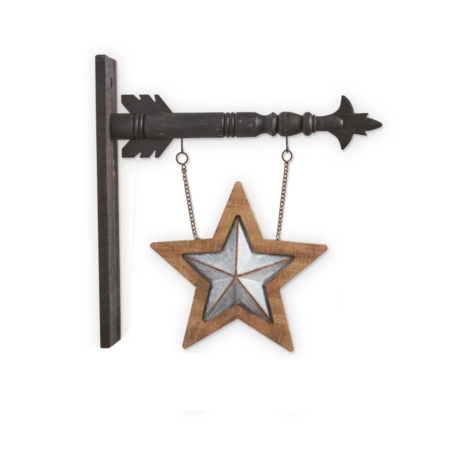 Tin and Wood Star Arrow Replacement