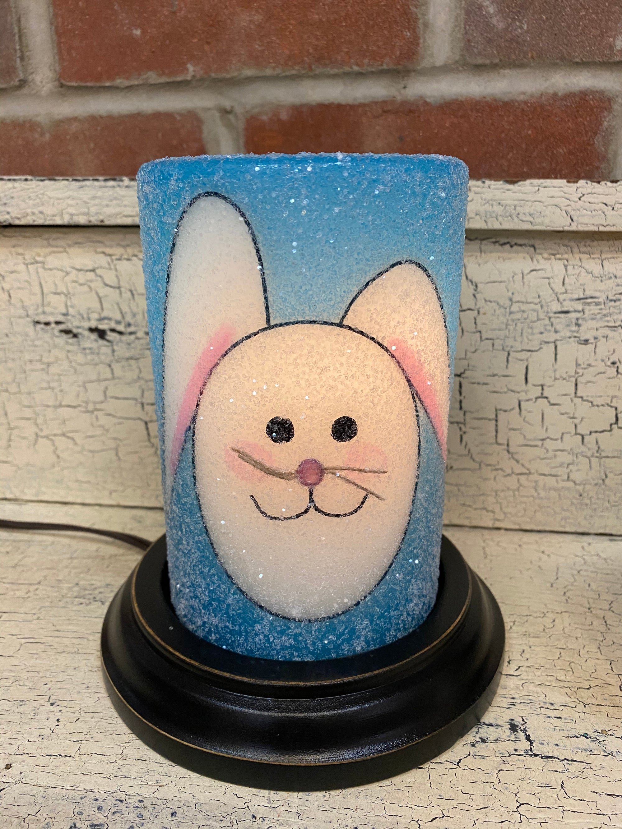 Blue Bunny Candle Sleeve