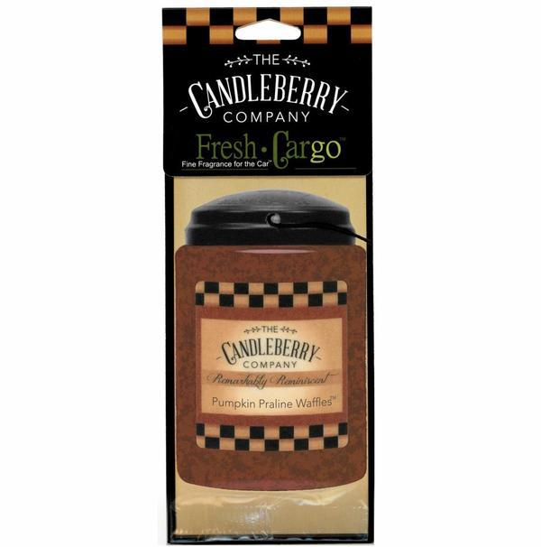 Pumpkin Praline Waffles Candleberry Car Air Freshener