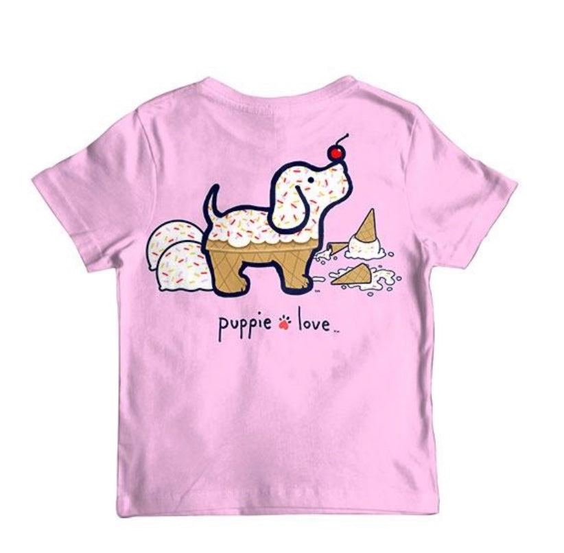 Puppie Love Youth Ice Cream Pup Tee