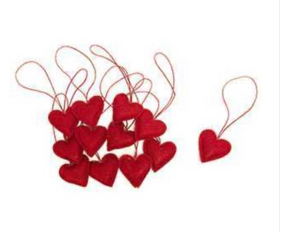 Fabric Heart Ornaments