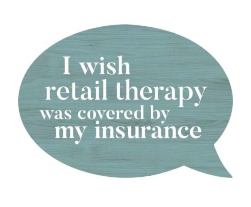 Retail Therapy Word Bubble Magnet