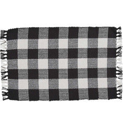 Wicklow Check Placemat - Black/Cream